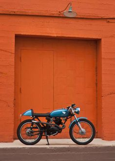 FFJMOORE Big Blue FINISHED!!! 11 20 11 #motorcycle #honda #cb125