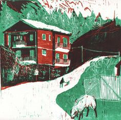 Viola Niccolai Butcher's House #graphics #illustration #landscape