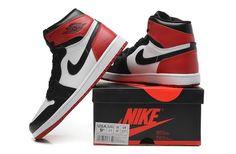 Nike Air Jordan Red I Mens Shoes Black Hot