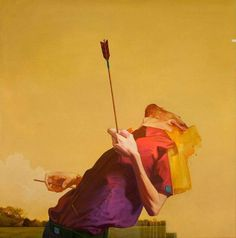 Sainer - Etam crew #heart #yellow #painting #arrow
