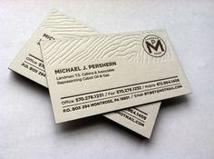 Landman Business Card on the Behance Network