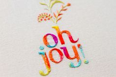 Oh Joy! embroidered logo on Behance #craft