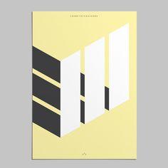 isometric shadows poster #isometric #shadows #poster #gassiotandllobet #gassiotllobet #poster #graphicdesign