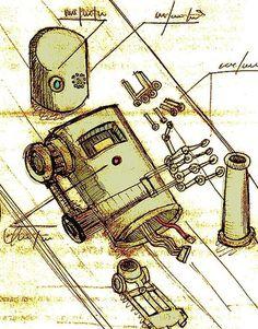 Todos os tamanhos | Passadismo 2 | Flickr – Compartilhamento de fotos! #illustration #sketch #robot