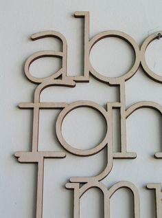 WOOD ALPHABET #wood #alphabet #lazer-cut #typography
