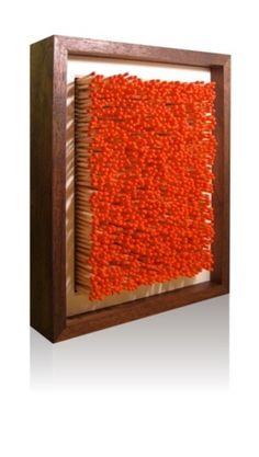 Ian Trask - Artists Wanted 2010 #frame #display #temptation #wood #matches #light