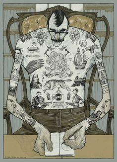 Área Visual: Las ilustraciones de Rich Kelly #painting #illustration #art #tattoos