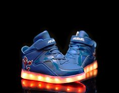 Kids Super Nova LED Luminous Shoes blue