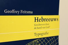 Typography / written by the hand of God? on the Behance Network #feitsma #geoffrey #design #book #cover #hebrew #religion #god