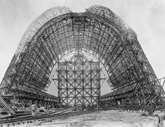 Construction of Hangar One at NAS Sunnyvale circa 1931 - 1934 | Flickr - Photo Sharing! #california #construction #nasa #design #aviation #1930s #industrial #architecture #aerospace #sunnyvale #nas #bw #hangar