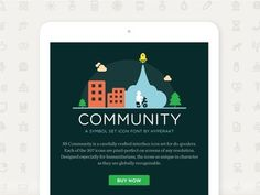Microsite for Community Symbolset #icons #illustrations #symbols