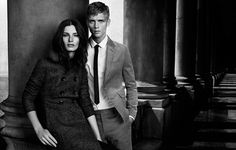 burberry-black-label-fw2012-4 #couple #white #clothes #black #burberry #and #fashion