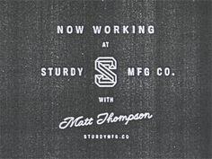 Sturdy #logo #typography