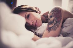 Good Morning by Ryan Rodinis #beauty #photography #tattoos #portrait