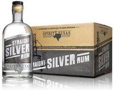 Silver, rum, drink, alcohol, bottle, clear, box, package