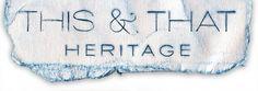 THIS N THAT HERITAGE #branding #design #logo #indigo #identity #vintage #navy #type #typography