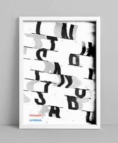 NEUE Show Us Your Type – Posters on Behance #typography #photocopy #distortion #neue #istanbul #scanner