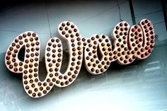 WOW #typography #lettering #script #neon #signage #wow