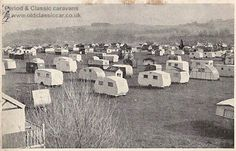 Old caravan postcards & photos from the 1940s and 1950s #vintage #caravans