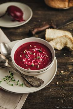 Oven Roasted Creamy Beet Soup | Foodienarium #food