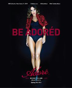 Adore Nightclub Miami #advertising #whyworkshop #branding #nightclub