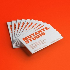 MUTANTE.ESTUDIO 2018. #businesscard #graphicdesign #design #grey #orange #mutantestudio #diseñografico #tarjetapersonal #mutant #mutante
