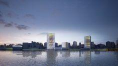 New Waterfront for Porto Alegre / b720 Fermin Vazquez Arquitectos #towers #renderings #architecture #facades