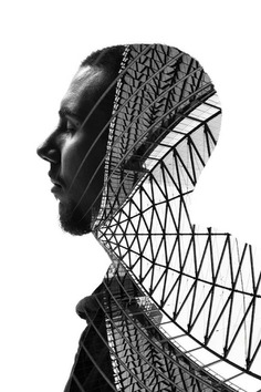 Dreamlike Double Exposure Shots That Blend People And Milan's Buildings - DesignTAXI.com