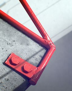 urban taster | a quick (almost daily) taste of the urban landscape #sculpture #red #weld #bolts #cement