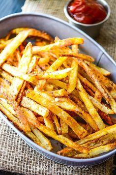 Extra Crispy Oven Baked French Fries #potato