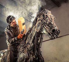 Wonderful Art Sculptures Made of Scrap Metal #sculptures #art