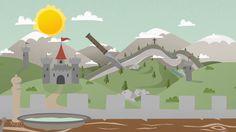 #illustration #flat #motiondesign #animation #castle #mountains #sally #salzwelten #studioastic