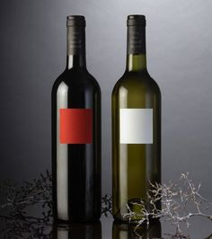 Carre Rouge & Blanc | Lovely Package #packaging #label #wine