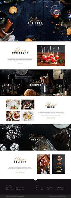 food, restaurant, layout, concept, web design