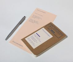 Passport Identity #branding #print #identity #stationery #passport #booklet
