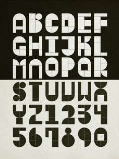 Modular Typography on Typography Served #wood #stamp #typography