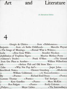 «Art and Literature» – An International Review, No. 4, Edited by John Ashbery, Anne Dunn, Rodrigo Moynihan, and Sonia Orwell, Société