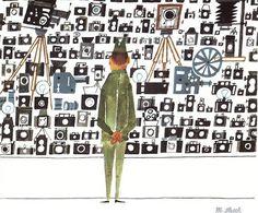 www.typetoy.tumblr.com #man #illustration #camera #shop
