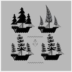 A fleet of logos for: http://www.willsaundersphoto.com/ #logo #design #nautical #photography