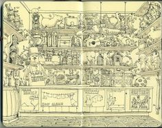Moleskine Sketches by Mattias Adolfsson | Best Bookmarks #shop #moleskine #toy #sketch