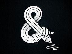 Dribbble - Sketching Ampersand by Eva-Lotta Lamm #illustration #ampersand #sketch #hand