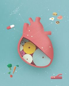 Gavin Potenza - The Black Harbor #heart #illustration #food