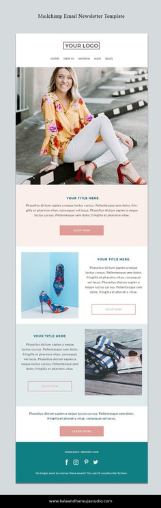 Mailchimp template Responsive HTML email Mailchimp Email | Etsy