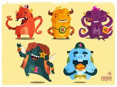 Skim Monsters #monters #illustations #design #character