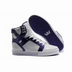 supra skytop white purple leather high sneakers mens #fashion