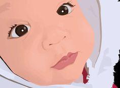Vectors on the Behance Network #vector #eyes #edzelrubite #cute #sknny #baby