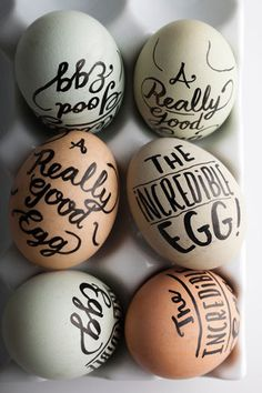 bunch of eggs #eggs #typography