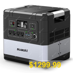 SUAOKI #Ares #G1000 #1182Wh #Portable #Power #Station #Uninterruptible #Power #Supply #1000W #AC #Outlets