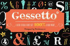 Gessetto Family (9 fonts) 60% off - Script