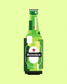 The Inspiration Stream | Veerle's blog 3.0 - Webdesign - XHTML CSS | Graphic Design #graphic design #beer #green #pop art #bottle #heineken